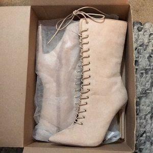 High heel booties. FashionNova